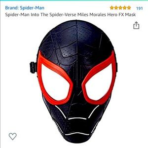 Into the Spider-Verse Miles Morales Hero FX mask